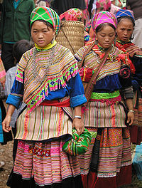 Hmong Women in Traditional Dress